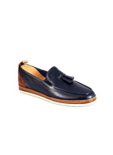 Tripy Hakiki Deri Ayakkabı Lacivert